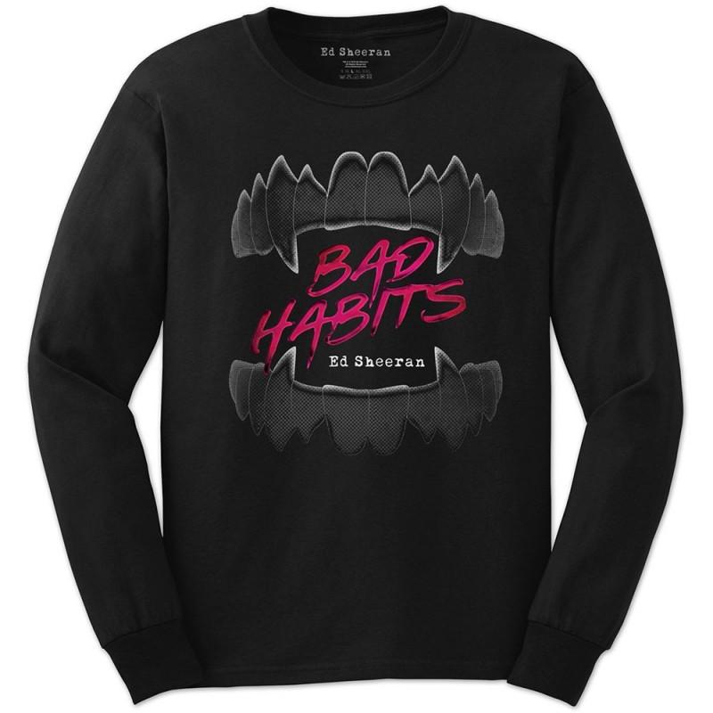 Tricou Mânecă Lungă Ed Sheeran Bad Habits