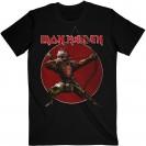 Tricou Iron Maiden Senjutsu Eddie Archer Red Circle